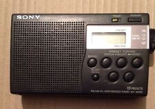 Sony ICF-M260 AM/FM Portable Pocket Radio Digital Tuner - Tested & Working