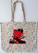 Thin Cotton Shopping Bag With Devil Hello Kitty Pic