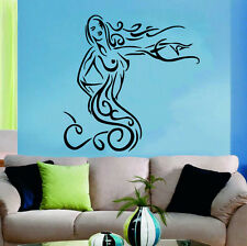 Wall Decal Mermaid Vinyl Sticker Bathroom Design Girls Beauty Salon Decor m291