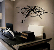 Compass Wall Decal Vinyl Nautical Rose Sticker Wall Decor Nursery Home Art SM177