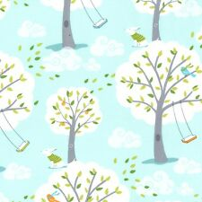Michael Miller Windy Day Fabric in Aqua. By the FQ