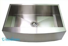 """36"""" CURVE Front Stainless Steel Farm APRON Kitchen Sink"""