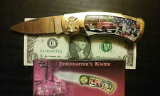 """Firefighter's Knife"" folding knife, 3 inch stainless steel blade, new in box"