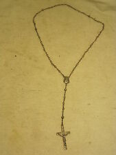 vintage Sterling Silver rosary Cross Christian Christ Jesus Creed INRI Mary