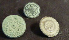 3 SMALL ANTIQUE BUTTON CENTURY XVIII OLD BOUTON BUTTON BOTON SEE MY SHOP CCB31