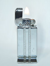 """Vintage Chrome Bowers Kalamazoo """"No.15"""" Table Lighter in Working Condition"""