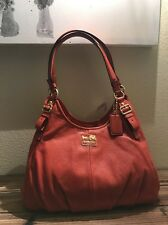 NWT Coach 16503 Madison Maggie Soft Leather Shoulder Bag Purse Hobo Orange