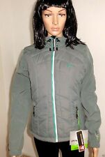 OCK Outdoor - Warme Damen Softshell-/Thermojacke mit Kapuze in grau - Gr. 34