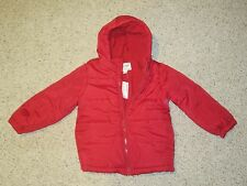 NWT Children's Place Boys Girls Jacket Coat Snow Winter Red Size 4 XS X-Small