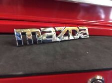 """MAZDA"" REAR BADGE LOGO CAR CHROME SILVER EMBLEM STICKER 2003-2007 Hatchback TS"