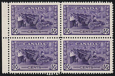 Canada 50c Munitions Block, Scott 261, XF MNH, catalogue - $300+++