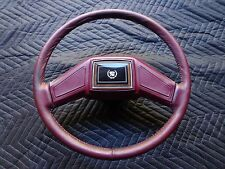 Cadillac Steering Wheel Eldorado Seville Deville Fleetwood Maroon Red Leather