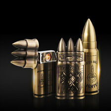 New Unique Bullet Design Jet Torch Windproof USB Rechargeable Cigar Lighter Gift