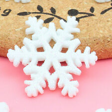 15pcs DIY Christmas Decoration kawaii Snowflake resin flat back cabochon