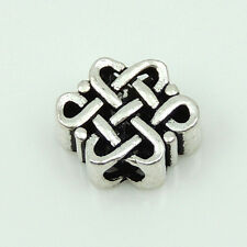 Sterling Silver S925 Stamped Ancient Chinese Lucky Knot Charm Bead Spacer WSP206