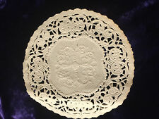 """2   5"""" INCH VTG SNOWFLAKE LACE ROUND IVORY OFF WHITE PAPER LACE DOILIES"""
