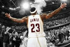 Lebron James Basketball star Poster Fabric Silk 12x18 Inch Print Wall Decor 17