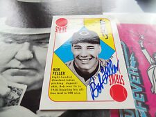 BOB FELLER RC signed 1997 TOPPS STARS ROOKIE REPRINT AUTO AUTOGRAPH 1951 style
