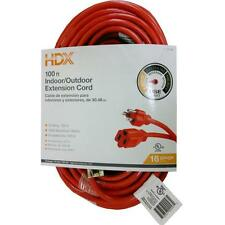 100 ft. 16 Gauge Indoor/Outdoor Extension Cord Heavy Duty Electrical Power Cable