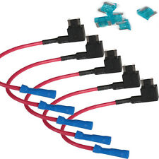 5-Pack Add-A-Circuit Fuse TAP Adapter Mini(ACN) Blade Fuse Holder for Car 15A US