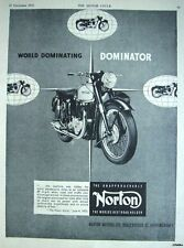 Vintage 1953 NORTON 'Dominator' Motor Cycle ADVERT #1 - Original Print AD