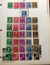 1940 US SC#859-893 Famous American Tow Full Sets, One Set stick on Album