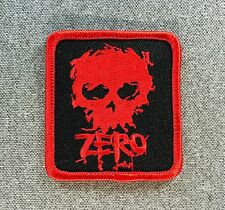 ZERO Blood Skull Skateboard Patch 2.5in Adhesive Iron on Patch