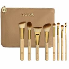 Hot Sale Khaki 8Pcs Zoeva Make Up Brush Set + Zipper Bag