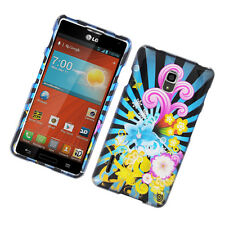 For LG Optimus F7 US780 HARD Protector Case Snap On Phone Cover Flower Blast