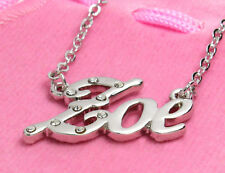 Name Necklace ZOE - 18ct White Gold Plated - Christmas Personalised Anniversary
