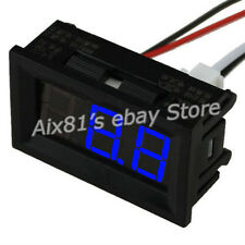 C27D Digital LED Display DC 0~10A Blue Amp Panel Ammeter Ampere Meter DC 4.5~28V
