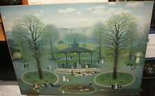 "MICHEL DELACROIX ""PARIS"" VINTAGE LARGE COLOR POSTER"