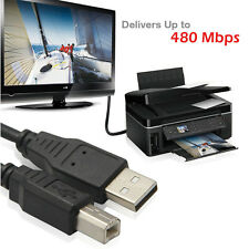 New 1.8M USB 2.0 CABLE A-B M/M for PRINTER SCANNER w/Ferrite Core 6 FT