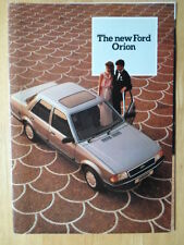 FORD Orion Range 1983 UK Mkt introductory sales brochure - GL Ghia