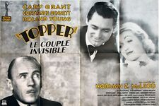 Affiche 80x120cm TOPPER /LE COUPLE INVISIBLE 1937 Bennett, Cary Grant R85 TBE #