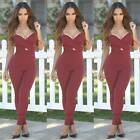 New Women Ladies Clubwear V-neck Playsuit Bodycon Party Jumpsuit&Romper Trousers