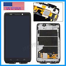 F/Motorola Droid Ultra XT1080 MAXX 1080M LCD Screen Glass Digitizer +Frame Black
