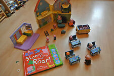 Peppa Pig Toys Large Bundle House School Book figures