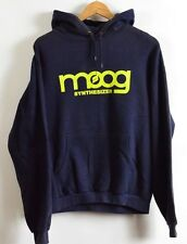 Moog Synthesizer Navy Blue Keyboard music  hoodie sweatshirt Size Large
