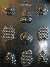 BEE ASSORTMENT MOLD candy chocolate molds bees hives cones honey sunflower