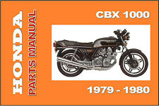 HONDA Parts Manual CBX 1979 & 1980 Replacement Spares Catalog List