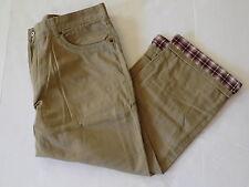 Croft & Barrow 40 x 29 khaki flannel lined pants khaki tan beige new twill
