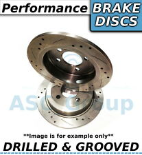 2x (Pair) Uprated Performance Drilled and Grooved Rear Brake Discs - 269mm