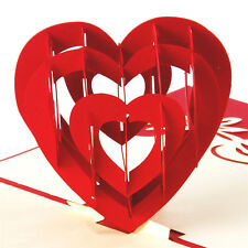 3D Pop Up Cards Love Heart Happy Birthday Valentine Anniversary Easter Thank You