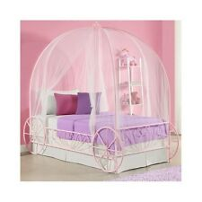 Toddler Princess Bed Iron Canopy TWIN Frame For Kids Girls Bedroom Furniture NEW