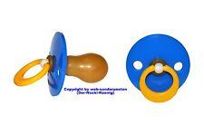 """Adult Pacifier -  """"Riesen Kirsch Schnuller""""  Blue  -  Nr. KN 200 Blau"""