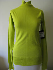 $255 NWT L.A.M.B. T-Neck Sweater Sulphur Women's M