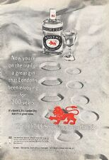 1966 Booth's Dry London GIN Vintage Bottle PRINT AD