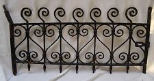Antique Cast Iron Window Guard Grate Architectural Basement Salvage W/Lock Hasp
