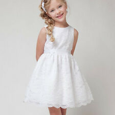 Girls Lace Dress Summer Casual Party Wedding Christenings Flowers Kids Dresses